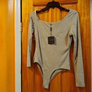 NWT JLUXLABEL Asymmetrical Should Thong Bodysuit